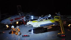 Y-wing and X-wing - In the spotlight (dmaclego) Tags: lego star wars fighter model ywing dupadupadupa