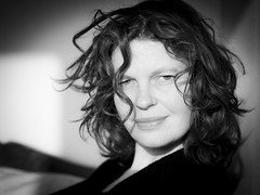 Hanneke, Amsterdam 2013: A stern look (mdiepraam (10m)) Tags: portrait blackandwhite woman girl beautiful dutch amsterdam lady pretty gorgeous curls redhead mature attractive elegant hanneke classy fortysomething 2013 naturalglamour