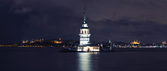 Kiz Kulesi (Maiden Tower) - Istanbul (16/52x) (Big Mico) Tags: longexposure lighthouse tower night turkey evening nikon nocturnal istanbul bluemosque hagiasophia f28 notte maiden d800 turchia kiz kulesi 2470mm kizkulesi newmosque maidentower