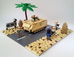 """""""Baghdad Bound"""" (Project Azazel) Tags: modern google lego iraq pa armor baghdad ba apc saddam gulfwar armour googleimages shockandawe operationiraqifreedom m113 armouredpersonnelcarrier brickarms legomilitary legoapc legomodernwarfare legomodernmilitary projectazazel legomilitarymodel legom113 brickarmsm60 baghdadbound"""
