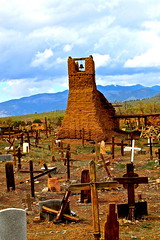 IMG_2166.jpg (Michael Ferranti Photography) Tags: bridge dog mountain mountains newmexico santafe bird church window cemetery car skull cross desert cattle flag chief prayer jesus pueblo peacock stainedglass hanuman gorge taos virginmary americanindian gothamayurveda michaelferrantiphotography mferrantiphoto