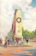 Cenotaph (Leonard Bentley) Tags: uk london peaceday cenotaph 1919 wreaths unionflag metropolitan whitehall lutyens canonrow cannonrow woodandplaster originalcenotaph