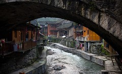 Dehang Under the Bridge (Ben Varley) Tags: china old beautiful river town village traditional chinese tradition arcitecture hunan jishou dehang southeastchina chinesearcitecture