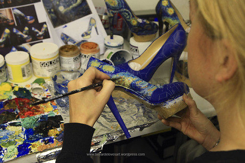 Painting Charlotte Olympia shoes 2012