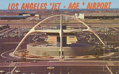 Los Angeles International Airport - Los Angeles, California (The Cardboard America Archives) Tags: california vintage losangeles airport postcard jet age lax themebuilding