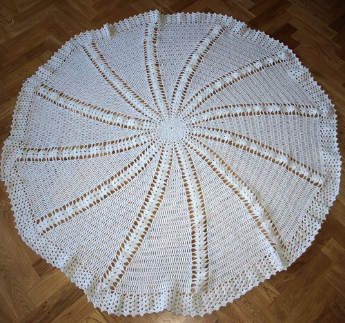 Circular Christening Shawl for Eva