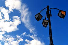 Gessopalena (Anoia_g) Tags: city blue sky urban italy white nature lamp clouds nikon italia nuvole blu natura cielo azzurro bianco abruzzo citt lampadario riflettori gessopalena spothlight nikond3100 uploaded:by=flickrmobile flickriosapp:filter=nofilter