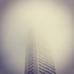 vanishing point (luca.nassini) Tags: building apple mobile fog point mac riviera cell emilia cellulare vanishing grattacielo nebbia 4s iphone romagna cesenatico romagnola instagram