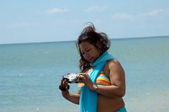 082 (Russell Bruce Photography) Tags: playing sexy beach hat photography coast big model nikon breasts tits nipples russell boobs head south bruce large gap posing sunny mature bikini massive nudist naturist filipino slip cleavage milf modelling beachy nip birling nipslip