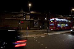 el primer beso 155/365 (Rooblestein) Tags: blur london night kiss streetlights islington londonbus firstkiss