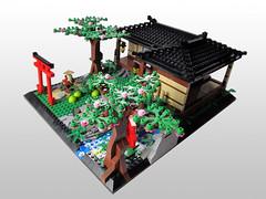 Japanese House 04 (IamKritch) Tags: house japan cherry japanese shrine lego blossom traditional samurai shinto feudal