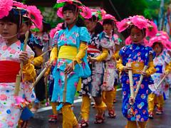 Deifying girl (cosmiclab) Tags: pink festival japan  nagano ricoh     bessyo takenonobori
