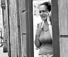 Bad news. (Baz 120) Tags: candid candidstreet candidportrait city candidface candidphotography contrast street streetphoto streetcandid streetphotography streetphotograph streetportrait mft m43 monochrome monotone mono omd em5 rome roma romepeople romestreets romecandid blackandwhite bw urban noiretblanc primelens portrait people unposed olympus europe italy italia life girl grittystreetphotography faces decisivemoment strangers olympus45mm