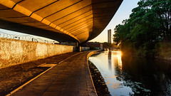 #Westway flyover on the #GrandUnion #Canal (Joe Dunckley) Tags: a40 cityofwestminster england grandunioncanal london paddington trellicktower uk westway architecture building canal flyover mainroad road sunset tower towerblock transport transportation trunkroad