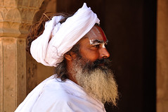 White holy men (PiccolaSayuri) Tags: hindu india santon rajasthan haryana uttarpradesh madhyapradesh delhi mandawa bikaner jaisalmer jodhpur udaipur jaipur agra fathpursikri gwalior orchha khajuraho varanasi incredibleindia temples forts colours people faces