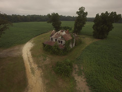 Mercer House (History Rambler) Tags: old abandoned house home rural south decay ruin drone dji phantom 3 forgotten lonely