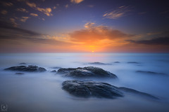 Milky Bay... (Charlie_Joe) Tags: india incredibleindia indiatourism chennai travel kovalam beach rocks sunrise morning daybreak dawn sea bay bengal clouds longexposure leefilters bigstopper leegnd nd reallyrightstuff sky nature landscapes outdoor motivation inspiration milky waves mist calm serene peace