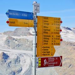 """""""How many roads..."""" (Gornergrat, Switzerland) (armxesde) Tags: pentax k3 ricoh schweiz switzerland alpen alps berge mountains gornergrat schnee snow eis ice schild signpost"""