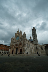 Siena Cathedral (Jeremy Brooks) Tags: architecture building cathedral church clouds colorefexpro italy siena sienacathedral tuscany camera:make=fuji camera:make=fujifilm camera:model=xpro1 toscana it