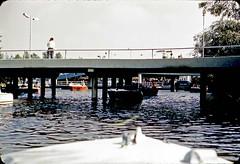 Disneyland motorboats ride, November 1964 (Tom Simpson) Tags: motorboat vintage disney vintagedisney disneyland vintagedisneyland tomorrowland fantasyland 1960s boat river ride 1964