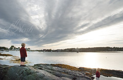 Skies alight (grilljam) Tags: summer september2016 laborday seamus 4yrs baileyisland rocky atthecribstonebridge sunset
