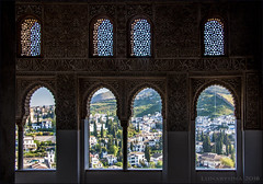 timeless beauty within and without (lunaryuna) Tags: granada andalucia spain elalhambra palacionazaries nasridespalace windowswithaview unescoworldheritage timelessbeauty lunaryuna