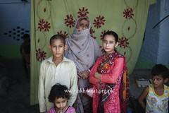 Abida Parveen with her family. (Akhuwat BPP) Tags: sukkur pakistan interest free loans microfinance entrepreneurship pakhtoon ordinary people small business akhuwat
