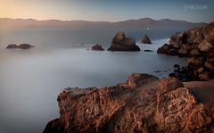 Lands End (flopper) Tags: california coast landsend longexposure rock sanfrancisco sunset sutrobath tranquilscene tree