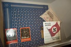Nazi tablecloth and pamphlets (quinet) Tags: 2013 allemagne deutschland germany hakenkreuz munichstatemuseum mnchen nsdap rassismus stadtmuseummunich nazi racism racisme svastika swastika munich bavaria