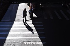 Caught In The Crosswalk (Trish Mayo) Tags: light shadows crosswalk pedestrian queens