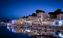Ciutadella Blue Hour (Photo Lab by Ross Farnham) Tags: ciutadella menorca blue hour harbour boats ocean reflections wide angle sony a7rii