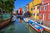 Canal on the island of Burano, Italy (diana_robinson) Tags: canal islandofburano italy reflections colorfulhouses boats burano
