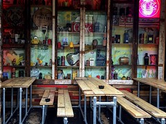 Quirky colours (oliviadawson7) Tags: colour irishphotographer streetphotography outdoor horizontal urban street rustic abstract analog handheld iphone photography thomas manchester england united kingdom store cafe display vsco