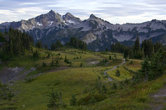 (abement2) Tags: mountain rainier mt mount washington trees pine grass landscape nature scenery trail hike hiking fall green path plants clouds cloudy sky outdoor