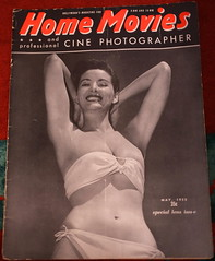 """USA vintage US magazine for photo and film buffs - """"Home Movies"""" (moreska) Tags: usa vintage magazine home movies 1955 fifties bikini model oldschool photography analogue 16mm moviemaking filmmaking curvy beauties fonts graphics posed smile hobbies collectibles retro nostalgia us north america"""