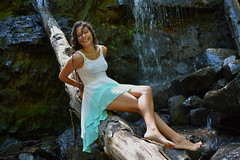 'Laughter' (miranda.valenti12) Tags: laughter laugh laughing atheena posing portrait landscape nature water waterfall waterfalls rocks tree trees rock log hike hiking smiling smile happy green greenery color