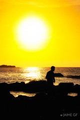 Contraluz (Jaime GF) Tags: instagramapp uploaded:by=instagram contraluz blacklight sea mar coast costa sun sol verdicio gozn asturias spain nikon d40