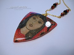 Asian Dreams (LynzCraftz) Tags: polymerclay resin swellegant steampunk handmade oneofakind jewelry necklace pendant