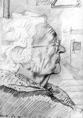 oma_(1991) (5Oma (1991) (My grandmother Marie Kersten-Kuster) (corne.akkers) Tags: akkers artist artista arts clair corne dark donker drawing dutch figurative fine haag hague hatching holland kunst licht light nackt nederland netherlands obscur pencil potlood crayon bleistift posing sitting tekening woman frau mujer vrouw zeichnung abstractie art arte arta artiste marie kersten kuster kerstenkuster realism realisme realistic realiste realist      ngh thut   mvszet  seni