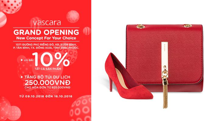 Grand Opening Bình Phước – Ưu đãi 10% tất cả sản phẩm + Tặng bộ túi du lịch 250.000 đồng