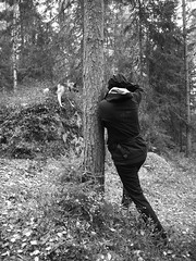 Photo inside a photo (Kirppu_81) Tags: blackandwhite mustavalko epl3 tampere lokakuu