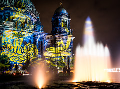 Festival of Lights - Berlin (Indiana Jules!) Tags: festival lights berlin berliner dom fontne wasser langzeitbelichtung farbig