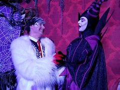 Ah, L'amour.......Sean Brown and Maleficent at Halloween (Halloween in Oz) Tags: seanbrown cruella maleficent mickeyshalloweenparty2016 halloween halloweencostume
