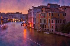 Textured Venetian canal (Jim Nix / Nomadic Pursuits) Tags: aurorahdr2017 europe hdr italy jimnix lightroom macphun nomadicpursuits venezia venice canals travel texture sunset canal