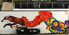 The Wild Hunt by ApeSeven, Dominatah. Klutch & Rupeezy (wiredforlego) Tags: graffiti streetart urbanart publicart portland oregon pdx apeseven klutch dominatah rupeezy