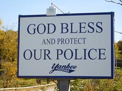 Back the Blue (esu105) Tags: police back blue woodbury