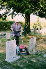 Grandad (Whiteglare) Tags: portrait portraiture august summer person people countryside country rural nature tree sky documentary photography nikon d3200 35mm church graveyard