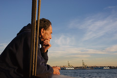 Contemplative (dtanist) Tags: nyc newyork new york city newyorkcity sonya7 contax zeiss carlzeiss carl planar 45mm manhattan staten island ferry siferry nyharbor harbor sea boat ship commuter contemplative thinking
