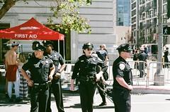 (helianthus.babe) Tags: san francisco sf pride photo photograph canon ae1 fuji superia 400 police people cops
