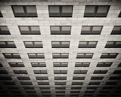 Vertiginous (megorgar) Tags: windows bw white black building tower monochrome facade sw schwarz fassade weis westfalentower
